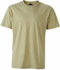 James & Nicholson Fusible Systems - Heren James and Nicholson Workwear T-Shirt (Beige)