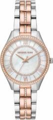 Michael Kors MK3979 Horloge Lauryn staal zilver-en rosekleurig 33 mm