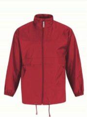 Bc Heren regenkleding - Sirocco windjas/regenjas in het rood - volwassenen XL (54) rood