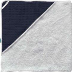 Donkerblauwe BINK Bedding Badcape Pique (wafel) marine