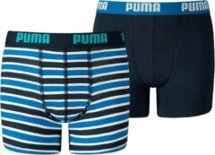 Puma - Boys Basic Boxer Print 2P - Blauw - Kinderen - maat 128