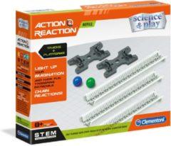 Clementoni - Actie & Reactie - Circuit + Platformen, uitbreidingsset - constructiespeelgoed, knikkerbaan, bouwset voor kinderen