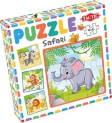 Tactic Puzzel Safari Junior 20 X 20 Cm Karton 4-delig