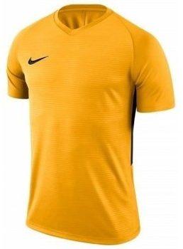 Afbeelding van Nike Tiempo Premier SS Jersey Teamshirt Sportshirt performance - Maat XL - Mannen - geel/zwart