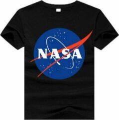 Zwarte Fruit of the Loom Nasa T-shirt | Klassieke insignia logo | black | maat 152 (12-13 jaar)