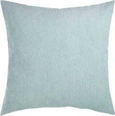 Lichtblauwe Lucy's Living Luxe sierkussen grijs - aqua - 50 x 50 cm - polyester - wonen - interieur - woonaccessoires