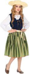 Blauwe Widmann Middeleeuwen & Renaissance Kostuum | Keurig Renaissance | Meisje | Maat 140 | Carnaval kostuum | Verkleedkleding