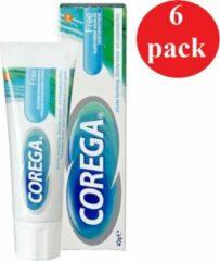 6 x 40g Corega Fixing Cream Flavourless - Kleefcrème - Voordeelverpakking