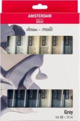 Amsterdam Standard Series Acrylics Grijs Set 12 × 20 ml