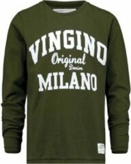 Vingino Jongens T-shirt - Olive Night - Maat 176