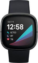 FITBIT Smartwatch FITBIT SENSE zwart