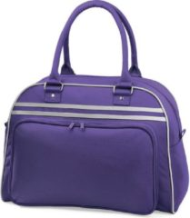 Bagbase Retro bowlingtas, Kleur Paars/Licht Grijs (Purple/Light Grey)