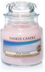 Roze Yankee Candle Small Jar Geurkaars - Pink Sands
