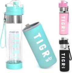 TIGR Waterfles met fruitfilter - 100% BPA vrij - 700ML - Blauw