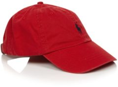 Rode Pet Casquette Classic Pony Cotton by Polo Ralph Lauren