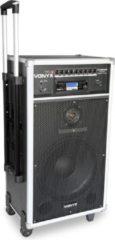 Zwarte Vonyx ST180 Mobiele geluidsinstalatie met bluetooth en draadloze microfoons