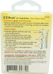 Swabplus, Inc SwabPlus Pure Snapz EZ Brush Pina Colada - Borstelreiniging fluoride van de tandenborstel