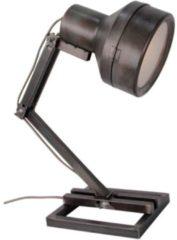 Brilliant Lighting Tafel- bureaulamp Hardwork industrieel zwart staal 60W E27