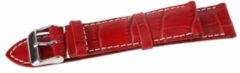 Rode Benson Kalfsleder Donkerrood 18mm