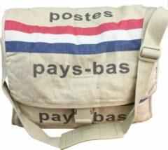 Rode Thanthis PTT post tas | Schoudertas | Canvas tas | Pays-bas | PostNL | Schoudertassen vrouw | Schoudertas heren |Reportertas | Crossbody