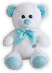 Sunkid - Teddybeer met ledlampjes - 30 cm - Licht gevende beer - Wit-Blauw