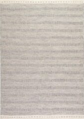 Decor24-OB Handgeweven laagpolig vloerkleed Jaipur - Wol - Zilver - 140x200 cm