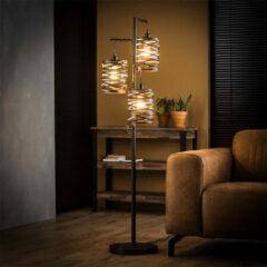 Antraciet-grijze Easy Furn Vloerlamp Spindle - 3L
