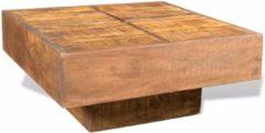 Bruine VidaXL Vierkante salontafel van mango-hout in antieklook (Bruin)