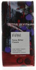 Vivani Chocolade fine dark cassis 100 Gram