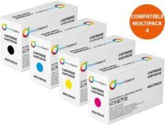 Samsung CLTP406C P406 multipackSamsung CLT-K406S/ELS zwartSamsung CLT-C406S/ELS cyaanSamsung CLT-M406S/ELS magentaSamsung CLT-Y406S/ELS geel Set 4x alternatief - compatible Toner voor Samsung P406C CLP360 CLX3305 Toners-kopen nl