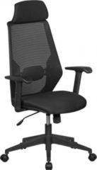 AMSTYLE NetStar Bürostuhl Stoff-Sitzfläche in schwarz Schreibtischstuhl mit Rückenlehne Drehstuhl höhenverstellbar