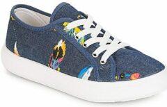 Blauwe Lage Sneakers André PLUMETTE