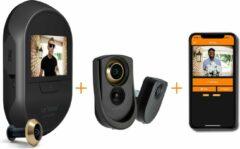 Zwarte Brinno DUO Slimme WiFi Deurcamera met Bewegingsmelder en App - 12 mm