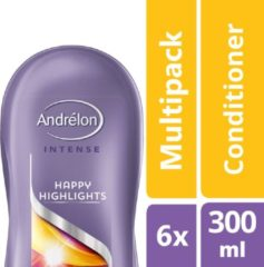 Andrélon Intense Happy Highlights Conditioner - 6 x 300 ml - Voordeelverpakking
