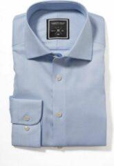 Lichtblauwe Strijkvrij overhemd - J. Harvest & Frost - Black Bow - Slim fit - Skyblue