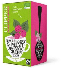 Clipper Framboos mint groen tea 20 Stuks