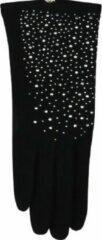 Zwarte ECgloves Handschoenen dames met glitters - fashion