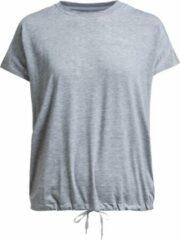 Licht-grijze Röhnisch Rohnisch To Hatha Loose Tee Sportshirt Dames - Grey Melange - Maat XS