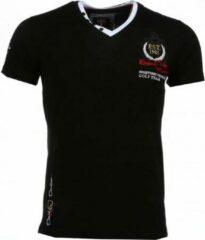 David Copper Italiaanse T-shirts - Korte Mouwen Heren - Riviera Club - Zwart Italiaanse T-shirts - Korte Mouwen Heren - Riviera Club - Zwart Heren T-shirt Maat M