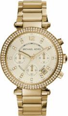 Michael Kors MK5354 chrono goudkleurig met zirkonia 39 mm