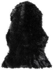Beliani MUNGO Schapenvel Zwart Polyester 88x53x3
