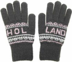 Robin Ruth Handschoenen Vrouwen Holland grijs-roze
