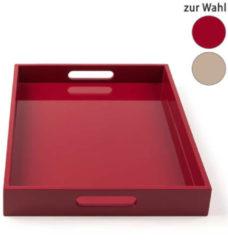 HSE24 Tablett mit Hochglanzlackierung - Weiß