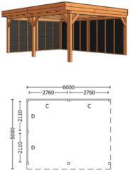 Trendhout | Buitenverblijf Regina XL 6000 mm | Combinatie 2