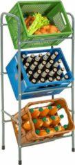 Tectake Rek voor 3 drankkratten, krattenrek kratten rek 401727