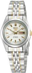 Seiko SYMA35K1 horloge dames - zilver en goud - edelstaal doubl�