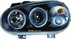 Universeel Set Koplampen Volkswagen Golf IV 1998-2003 - Zwart - incl. Angel-Eyes