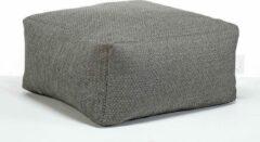 Antraciet-grijze Laui lounge Basic - Vierkante Poef - Outdoor - Anthracite, Antraciet - 68 x 68 x 34 cm
