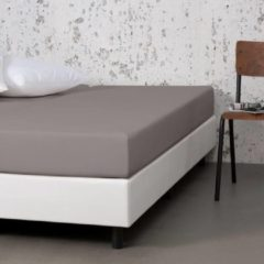 Witte Fresh & cold Comfort Hoeslaken - Taupe - 190x200 cm - Jersey Stretch - Fresh & Co