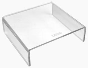 Afbeelding van DESQ® Acryl Monitor verhoger | Hoogwaardig Acryl | Max. 15kg | Helder transparant